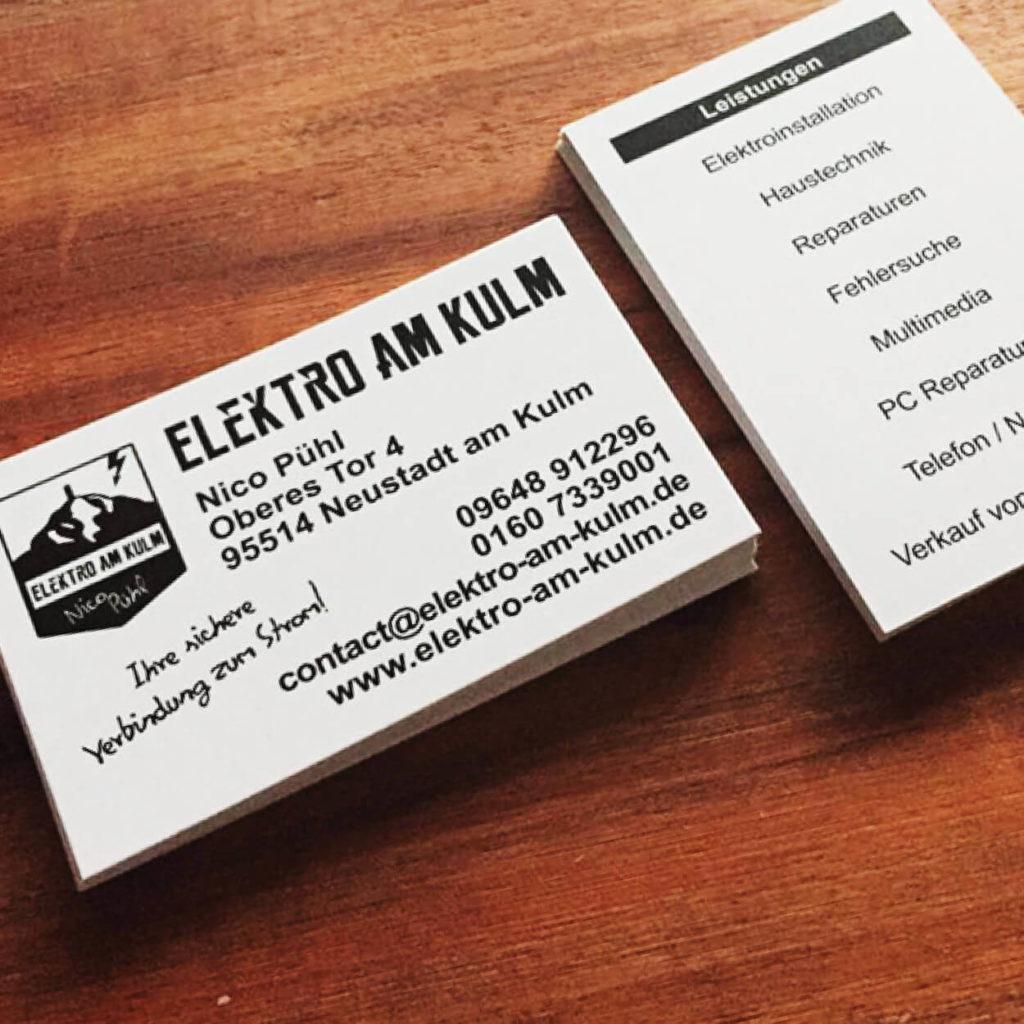 Visitenkarten von Elektro am Kulm