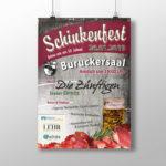 Referenzbild zeigt Flyer zur Bewerbung von Festlichkeit im Buruckersaal in Neustadt am Kulm