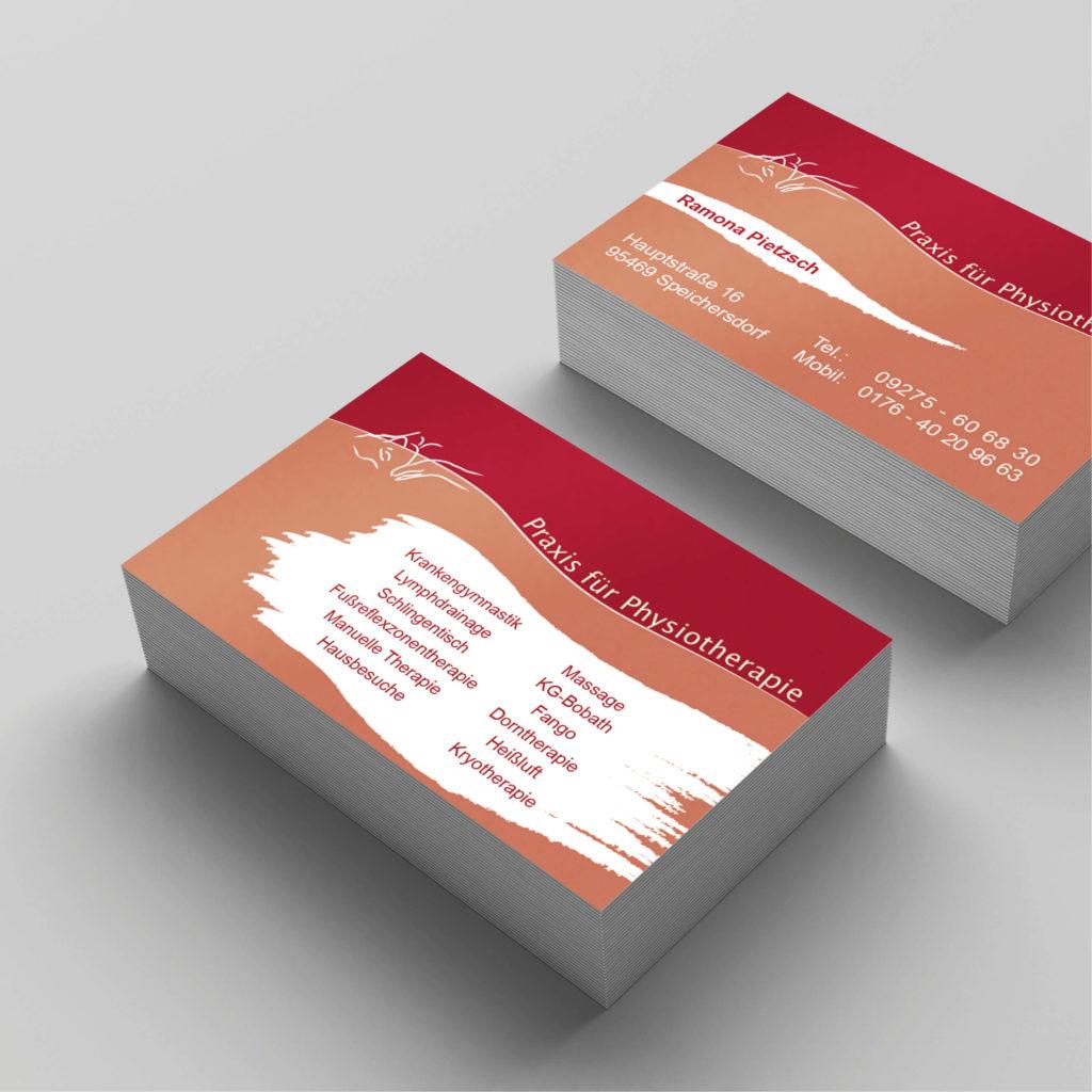 Visitenkarten für Physiotherapie Pietzsch