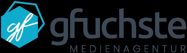 Logo gfuchste UG MEDIENAGENTUR mit Bild- und Wortmarke